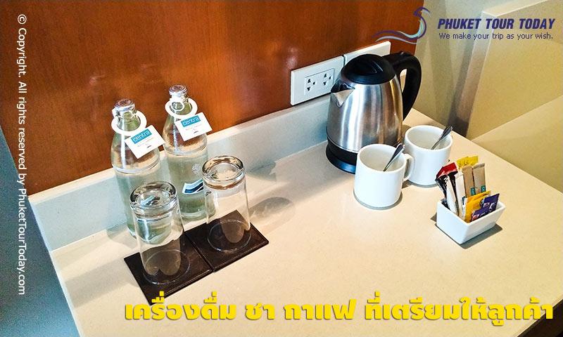 เครื่องดื่ม ชา กาแฟ ที่เตรียมให้ลูกค้า